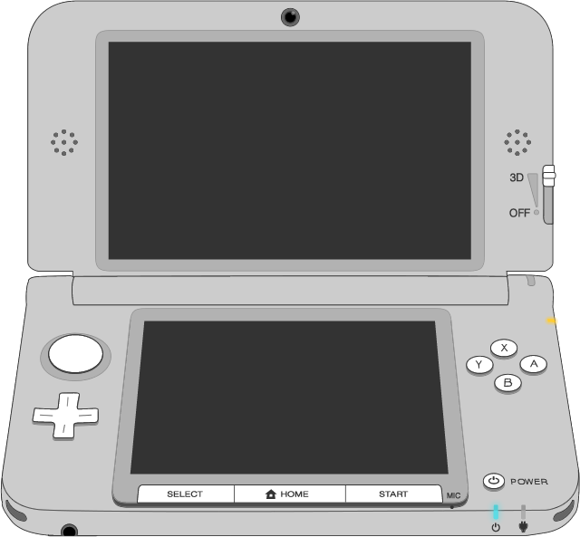Picture of the Nintendo 3DSXL controller