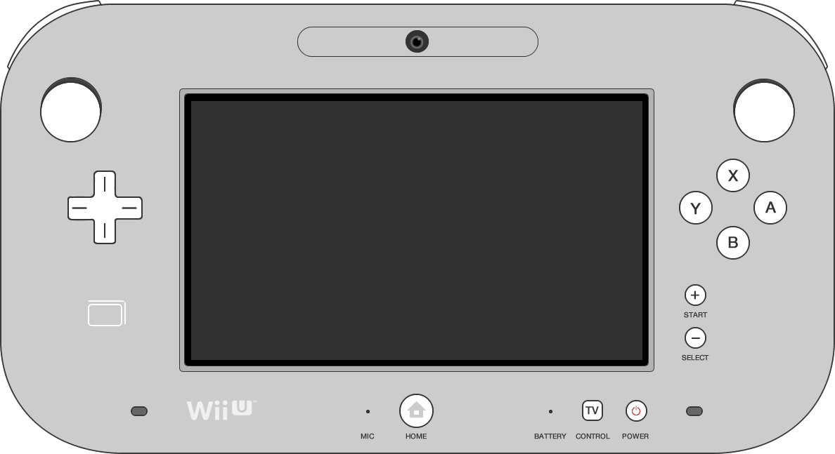 Picture of the Nintendo Wii U controller