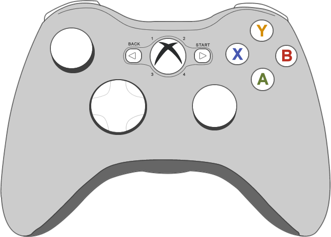 Picture of the Microsoft Xbox 360 controller