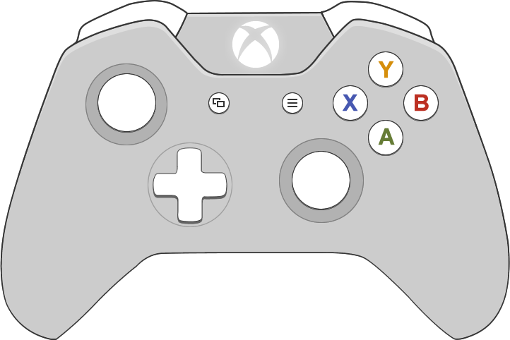 Picture of the Microsoft Xbox One controller